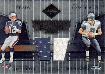 2004 Leaf Limited Bound by Round Jerseys BR8 Tom Brady w/Matt Hasselbeck