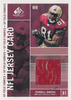 49ers 2003 SP Game Used Edition Field Fabrics Terrell Owens