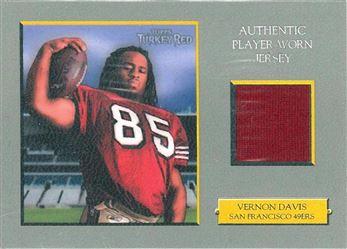 49ers 2006 Topps Turkey Red Relics Gray Vernon Davis
