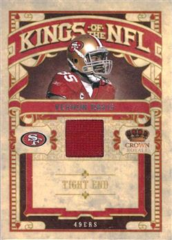 49ers 2010 Crown Royale Kings of the NFL Materials Vernon Davis