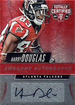 Falcons 2014 Totally Certified Awesome Autographs Red Harry Douglas