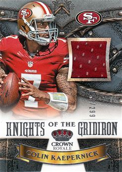 49ers 2013 Crown Royale Knights of the Gridiron Materials Colin Kaepernick