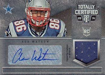 Patriots 2014 Totally Certified Rookie Autograph Jerseys Asa Watson