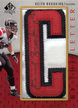 Falcons 2007 SP Authentic By the Letter Autographs Keith Brooking