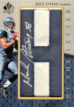 Seahawks 2007 SP Authentic By the Letter Autographs Mack Strong