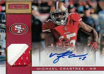 49ers 2013 Rookies & Stars Materials Autographs Team Logo Gold Michael Crabtree