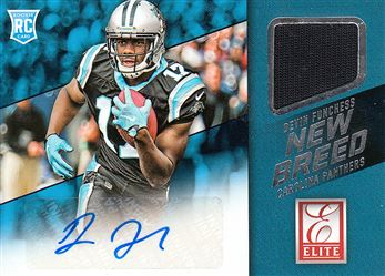 Panthers 2015 Donruss Elite Inserts New Breed Jerseys Autographs Devin Fuchess