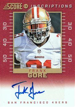 49ers 2013 Score Inscriptions Frank Gore