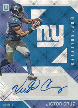 Giants 2016 Panini Unparalleled Autographs Blue Victro Cruz