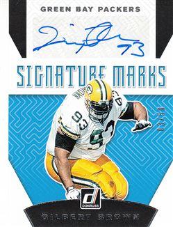 Packers 2019 Donruss Signature Marks Gilbert Brown