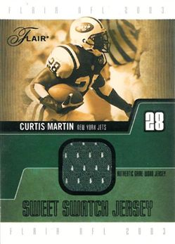 2003 Flair Sweet Swatch Jerseys CM Curtis Martin