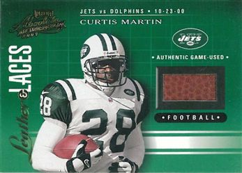 2001 Absolute Memorabilia Leather & Laces LL41 Curtis Martin