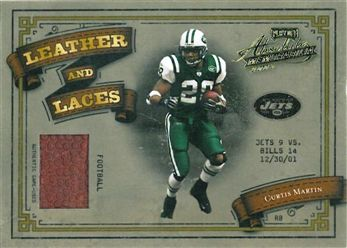 2003 Absolute Memorabilia Leather & Laces LL19 Curtis Martin