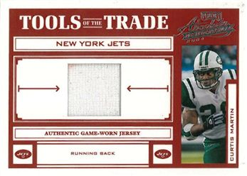 2004 Absolute Memorabilia Tools of the Trade Material Jersey  TT19 Curtis Martin