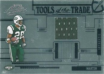 2005 Absolute Memorabilia Tools of the Trade Material Blue TT20 Curtis Martin