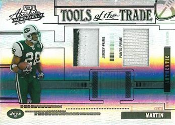 2005 Absolute Memorabilia Tools of the Trade Material Double Black TT20 Curtis Martin