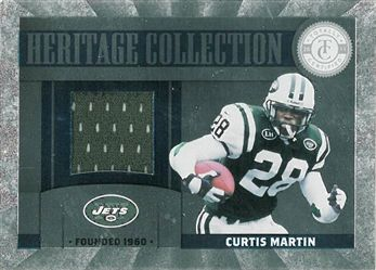 2011 Totally Certified Heritage Collection Jerseys 9 Curtis Martin