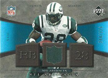 2007 Artifacts NFL Artifacts  NFLCM Curtis Martin