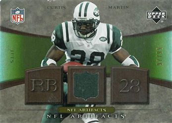 2007 Artifacts NFL Artifacts Gold NFLCM Curtis Martin