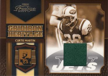 2007 Playoff Prestige Gridiron Heritage Materials 16 Curtis Martin green