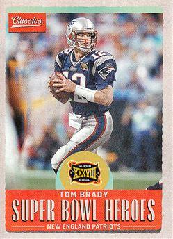 2017 Classics Super Bowl Heroes SBHTB2 Tom Brady
