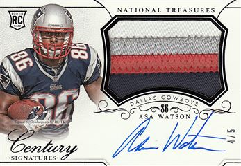 2014 Panini National Treasures Century Black 307 Asa Watson