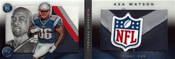 2014 Panini Playbook Jerseys NFL Shield Black 171  Asa Watson