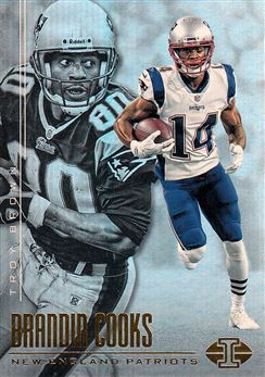 2017 Panini Illusions 59 Troy Brown/Brandin Cooks / 61 Ty Law/Patrick Chung