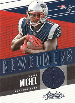 2018 Absolute Newcomers Jerseys 10 Sony Michel
