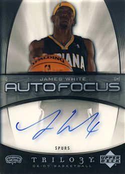 2006-07 Upper Deck Trilogy Auto Focus #AFJW James White
