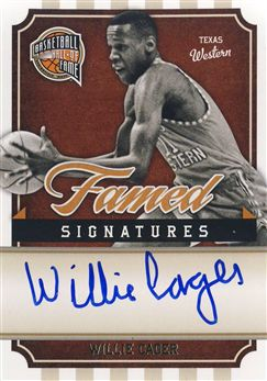 2009-10 Hall of Fame Famed Signatures #64 Willie Cager/899
