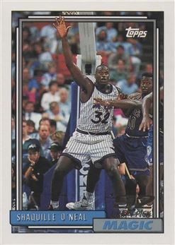1992-93 Topps #362 Shaquille O'Neal RCRC