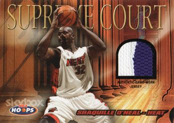 2004-05 Hoops Supreme Court Jerseys #SO Shaquille O'Neal