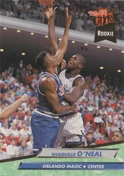 1992-93 Ultra #328 Shaquille O'Neal RCRC