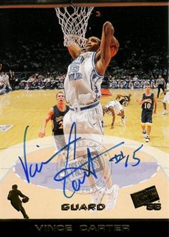 1998 Press Pass Autographs #07 Vince Carter
