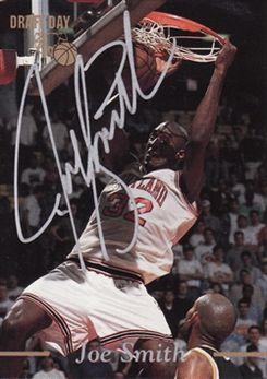1995 Classic Draft Day Autograph #NNO Joe Smith