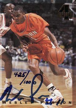 1994 Classic Four Sport Autographs #23A Wesley Person/1000