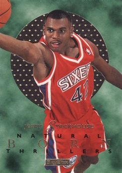 1995-96 E-XL Natural Born Thrillers #7 Jerry Stackhouse