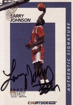 1991 Courtside Autographs #31 Larry Johnson