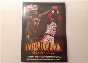 1997-98 Fleer Million Dollar Moments #20 Hakeem Olajuwon Redemption Prize