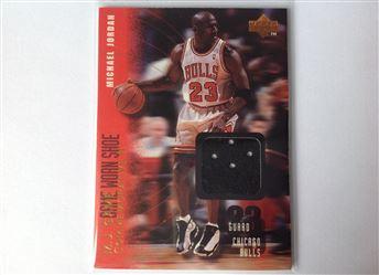 1998 Upper Deck MJx Michael Jordan: Première carte avec un morceau de chaussure