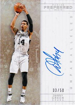2014-15 Preferred Unparalleled #510 Danny Green