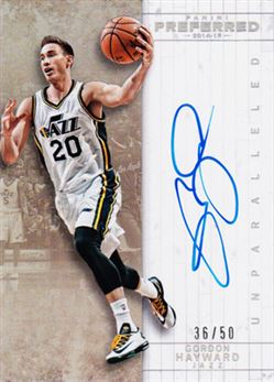 2014-15 Preferred Unparalleled #511 Gordon Hayward