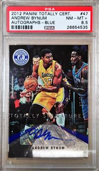 2012-13 Totally Certified Signatures Totally Blue #47 Andrew Bynum PSA 8.5