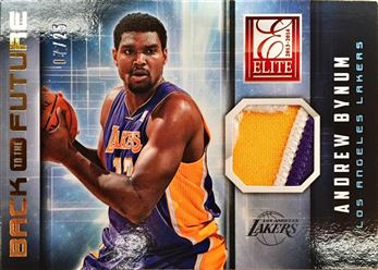 2013-14 Elite Back to the Future Materials Prime #23 Andrew Bynum