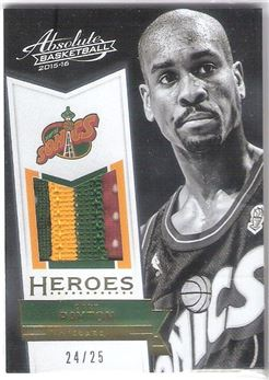 2015-16 Absolute Heroes Materials Prime #32 Gary Payton