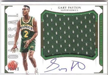 2015-16 National Treasures Colossal Jersey Autographs #CJ-GPT Gary Payton
