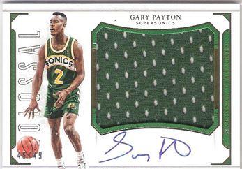 2015-16 National Treasures Colossal Jersey Autographs #CJ-GPT Gary Payton