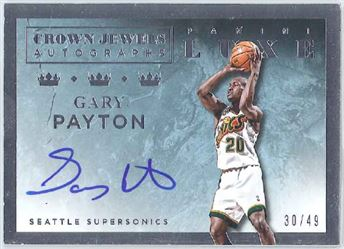 2015-16 Luxe Crown Jewels Autographs #CJ-GPT Gary Payton