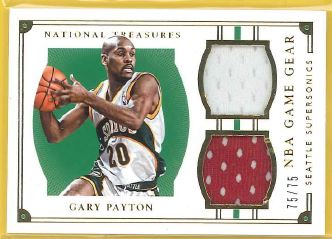2015-16 National Treasures Game Gear Duals #35 Gary Payton